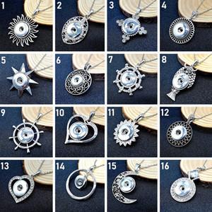 Novo snap jóias 10pcs / lot Rodada de Cristal 18 milímetros snap botão pingente de colar de gengibre encaixar Noosa pedaço com corrente de aço inoxidável encanto presente diy