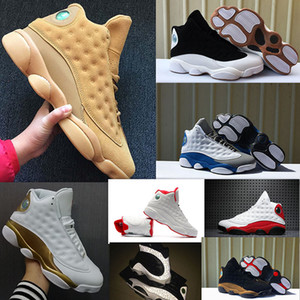 2019 13 13s Мужские Баскетбольные кроссовки из чикагской пшеницы XII Мело класса 2002 года Черная кошка Высота Коричневый CP3 домой DMP 7-13