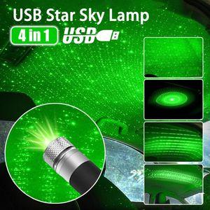 Star Car Atmosphäre Licht USB Sternenhimmel Lampe Dekoration Stern Deckenprojektionslampe Laser USB Dachinnenauto Ambient Light