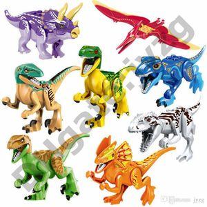 레오 쥬라기 공룡 세계 공원 어린이 장난감 어린이를위한 선물 공룡 랩터 보호 구역 빌딩 블록 세트