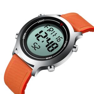 wholesale brand waterproof sports man wristwatch mens digital watches Chronograph calendar week men's watch LED display