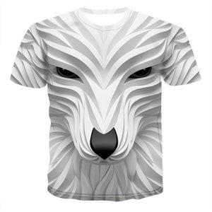 3D-Tierdruck-Männer-T-Shirts Modedesigner Art-Kurzschluss-Hülsen-Rundhalsausschnitt-T-Shirts der Männer Personality Tops