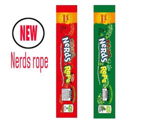 Gıda paketi folyo 6 tip ilaçlı İnekler Halat Boş Ambalaj alçak İnekler Halat şeker Nerdsrope sakızlı torba üç kenar sızdırmazlık torba