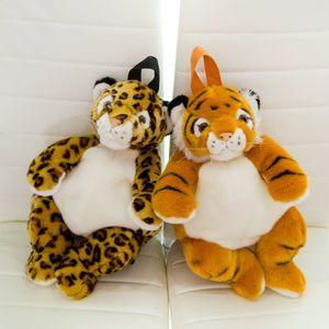Kindergarten boys and girls plush stuffed animal backpacks, leopard, tiger, panda, polar bear backpack, purse, coin book bag