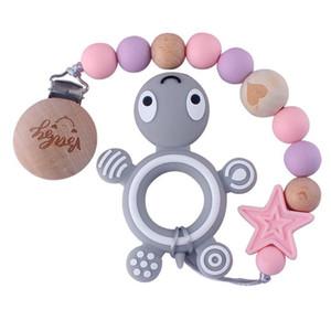 INS clips sucettes pour bébé de haute qualité en métal Dummy Clips Bois Perles Pacifier chaîne Titiller SUCETTE Clips d'alimentation pour bébé