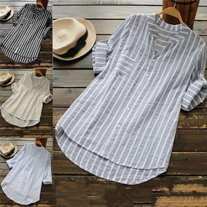 Nueva moda mujer estrella blusa con cuello en v camisa de manga larga mujer sexy camiseta tops mujer camisa de algodón blusas blusas femeninas talla grande