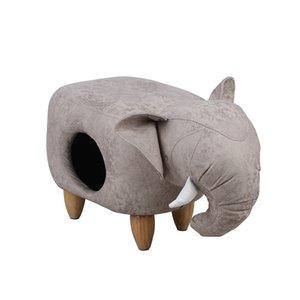 Pet canil gato quente fechado interior casa villa pedal de madeira maciça PU banquinho de couro ninho duplo propósito gato camas pet mat