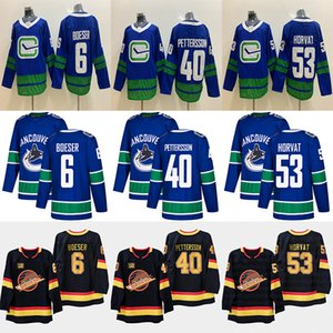 Vancouver Canucks 40 Elias Pettersson 6 Brock Boeser 53 Bo Horvat 33 Henrik Sedin 22 Daniel Sedin Hockey Jersey