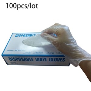 in stock 100pcs lot Disposable Vinyl Gloves Kids Adult Powder-free Waterproof Industrial Food Safety PVC Gloves boom2017
