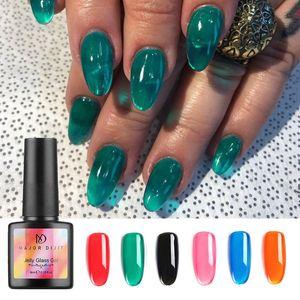 Nail Stylisn Jelly Nails Gelatine Candy Vetro Nails Estate traslucido al neon di colore UV 8ml del polacco del gel
