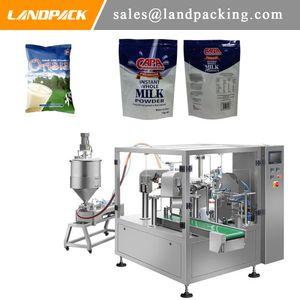 Geeinsackter Milch Up Pouch Filling Ständer und Verschließmaschine Reißverschluss Verpackung