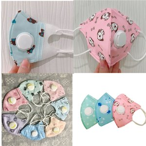 designer face mask Kids Cartoon masque Breathable Face Masks 5Layers Thicken Face Mask with Breather Valve PM2.5 Anti Dust Mask For Children