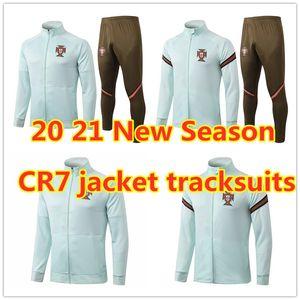 New Season 20 21 Portugal jacket tracksuit national team CR7 Adult Full Zip football jogging soccer jerseys Men jacket training suit