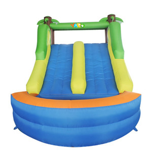 New Design Giant Inflatable Dry Slide Dual Lan jungle Slide with Climbing Wall for Kids Outdoor Play Soft Dry Slide for Yard Party w  Blower