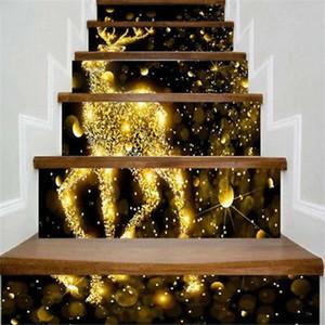 Árbol de Navidad 3D autoadhesivo escalera pegatinas Cada pieza de Navidad Decoración 6Pcs