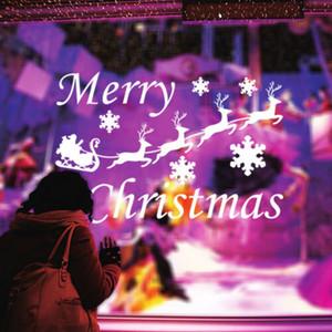 US Stock Large fiocco di neve di Glass Window Sticker vinile della decalcomania di Natale Decor