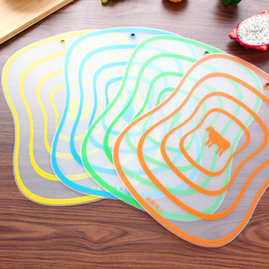 Frosted Classification Plastic Fruit Anti-skid Slice Transparent Cutting Board