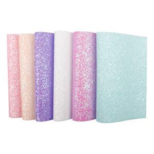 22 * 30CM Süßigkeit Glitter Leder Stoff Süße Farben Chunky-Blatt für Kinder Geschenke zu machen Patchwork Handwerk Heim Dekorative Materialien