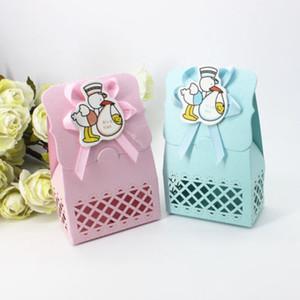12pcs / lot favore Kraft scatole di carta regalo di caramella pieghevole Scatole Borsa di compleanno Forniture Decor Per Visitatore