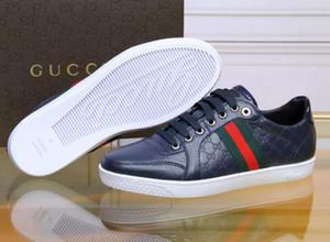 2019 Scarpe da uomo nuove di design Sneakers casual ricamate Sneakers basse Scarpe basse da uomo in vera pelle bianche stringate 39-46