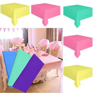 Grand en plastique Rectangle Table Cover Chiffon Essuyez Partie Nappe Couvre Couvre Nappe Étanche Cuisine Table Cover #SS