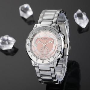 Luxo Women Watch 40mm senhoras Pandora relógios do relógio de presente de ouro pulseira vestido rosa Pulseira de alta qualidade novo relógio big bang vestido relógio de pulso