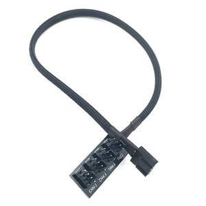 бесплатная доставка SXDOOL чехол PC Cooler Fan кабель питания 1 Женский до 4 мужской 4pin разъем вентилятора концентратор Splitter кабель для 3PIN4PIN PWM