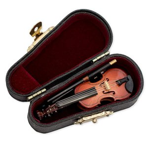 Gifts Violin Music Instrument Miniature Replica with Case, 8x3cm