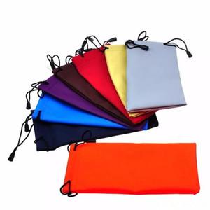 Sac de lunettes de soleil coloré pochette microfibre poussière sac de lunettes de soleil imperméable à l'eau portable cordon de serrage cas portable montres bijoux sac de transport