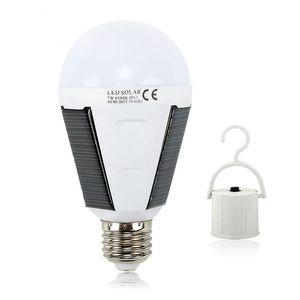 LED مصباح للطاقة الشمسية 7W 12W في الهواء الطلق بقيادة مصباح المصباح AC85-265V Bombillas E27 LED قابلة للشحن الطاقة الشمسية الإضاءة IP65 الطوارئ التخييم