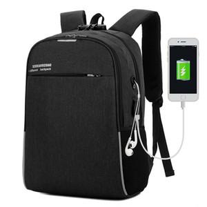 Laptop backpack men usb charging computer backpacks casual style bags large bagpack male business travel bag back pack