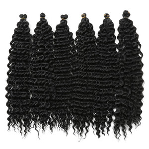 Deep Twist Crochet Braids Synthetic Hair for Braiding 22inch 90g piece Freetress Style Water wave African Bundles for Women