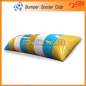 Freies Verschiffen 7 * 2 mt 0,9mm PVC Aufblasbare Wasser Klecks Springen Kissen Wasser Klecks Springen Tasche Aufblasbare Trampoline