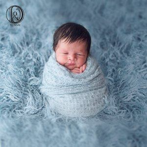 Don&Judy 100x75cm Newborn Faux Fur Blanket Photography Props for Photo Shooting Background Backdrops Photo Stand Basket Filler CX200604