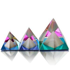 Yüksek Kalite (seçti için 3 boyut) Mısır Mısır Kristal Piramit Süsleme olarak Hediyelik BOX Enerji Şifa FengShui Ev Dekorasyonu T200703