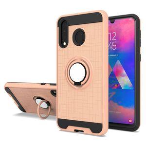 Caso Anello Supporto da auto ibrida magnetico del telefono per Samsung Galaxy A40 A60 A70 A80 A90 A10s A20s copertura S20 Ultra S10 Più