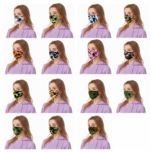 Камуфляж маска Цветочной маски дышащего с дыханием Valve Anti Dust маска для лица многоразовых взрослых маски YYA142