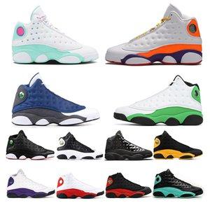 nike air jordan restro Cheap 13 Hombres Zapatillas de baloncesto GS Hyper Pink Playoffs Barons gato negro Chicago zapatos 13s Hombres Sneaker EE. UU. 7-13