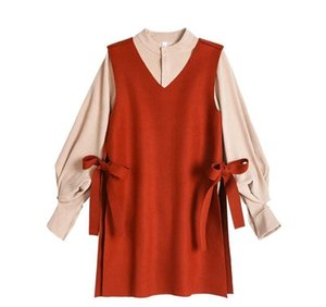 Spring Chic Fashion New Women's Spring Dress Casual Bottoming Long Sleeve Loose Two-piece Suit SRY XSQ gunn