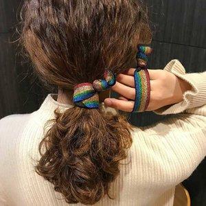 20200227 joli bracelet double arc-en-Ins coiffe cercle cheveux léopard
