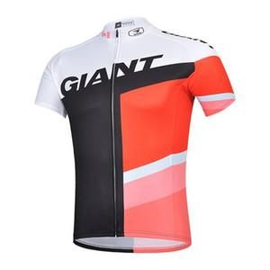 2019 Новый GIANT Спорт на открытом воздухе Мужчины с коротким рукавом рубашки Велоспорт Джерси Лето дышащий быстросохнущий велосипед вершины 304517