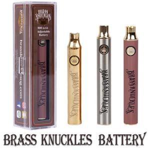 Самая горячая латунная регулируемая батарея 650 мАч, 900 мАч, серебро, золото, дерево, регулируемое напряжение Vape Pen для подключенных картриджей Abracadabra