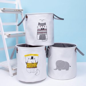 Bolsas Cestas sucia cesta de ropa de almacenamiento INS niños Juguetes de almacenamiento papeleras Bucket ropa del organizador de lavandería bolsa de mano bolso LJJA3689-13