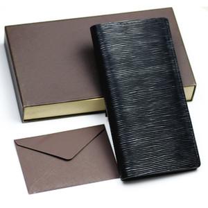 дизайнер кошелек кожаный длинный бумажник мужчины pruse мужского сцепление молнии вокруг бумажников мужчин женщин мешка денег карманного Короткого бумажника белого ящик
