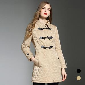 women fashion england Long thin cotton padded coat high quality jacket for women size S-XXL Parkas Mujer Casaco Feminino w187