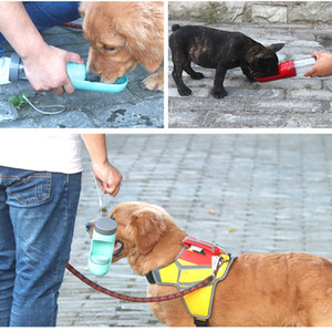 Portable Pet Dog Water Bottle Travel Puppy Drinking Bowl Outdoor 300ML Pet Water Dispenser Feeder With Activated Carbon Filter