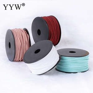 46m pc 3x1.5mm Velveteen Cord String Cord Thread String Strap Rope Bead for DIY Bracelets Necklace Jewelry Findings Accessories