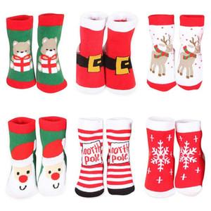 Presentes Meias Festival Xmas Natal Sock Inverno respirável Quente Meias Meninas Meninos Bebê Crianças listrado Grosso Curto Meias presente