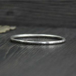 Новый 999 Fine Silver браслет Luck Резной Рыба манжета браслет 60mmW для женщин Party