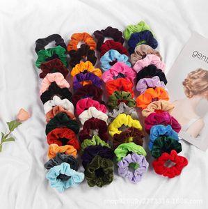 Женщины девушка Elegant Velvet Твердые резинки для волос хвостик держатель Scrunchies Tie волос резинка оголовье аксессуары для волос Lady